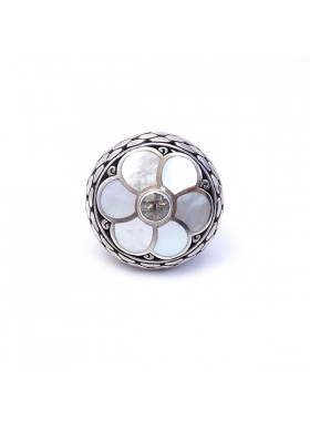925 STERLING SILVER  AND NACRE RING Jewelry