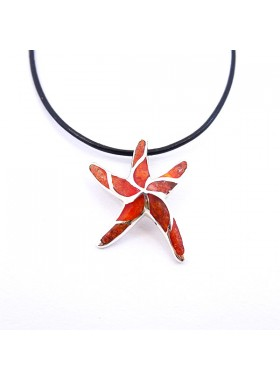 PENDANT 925 STERLING SILVER AND CORAL Jewelry