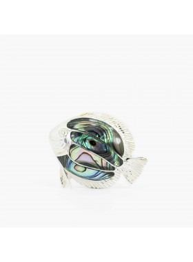 PENDANT AND BROOCH 925 STERLING SILVER AND ABALONE Jewelry