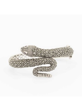 925 STERLING SILVER WITH SWISS MARCASITE BRACELET